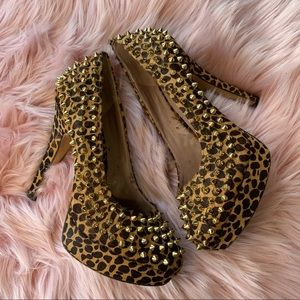 🖤 Vince Camuto | Madelyn Leopard Spiked Heels